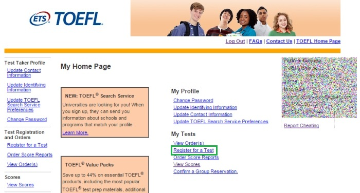 frontpage toefl